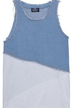 Debardeur enfant Andrea Crews Grafic purple tee-shirt Blue(115525123)