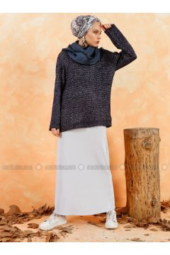 Blue - Unlined - Skirt - Muni Muni(110330511)