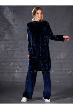 Navy Blue - Unlined - Suit - Eda Atalay(110331497)