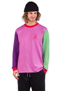 Teddy Fresh Colorblock Long Sleeve T-Shirt paars(108030514)