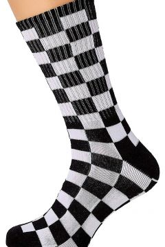 Vans Checkerboard II Crew (6.5-9) Socks zwart(95393340)