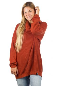 Iriedaily Mock Turtle Knit Pullover rood(94060824)