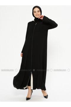 Black - Fully Lined - Viscose - Abaya - Meys(110336267)