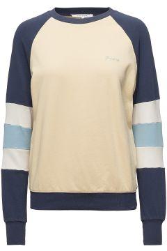 Blocked Sweatshirt Sweat-shirt Pullover Bunt/gemustert FRAME(114150676)