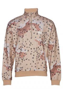 Jeremy Turtleneck Camo/Leo Pri Sweat-shirt Pullover Braun MARTIN ASBJØRN(114152603)