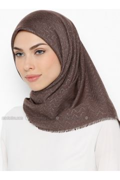Brown - Plain - Scarf - Bonjela(110339949)