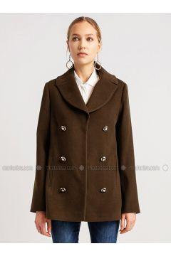 Khaki - Viscose - Coat - NG Style(110341249)