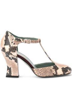 Chaussures escarpins Paola D\'arcano Décolleté Modèle Tabata en cuir imprimé python ivoire(101538063)