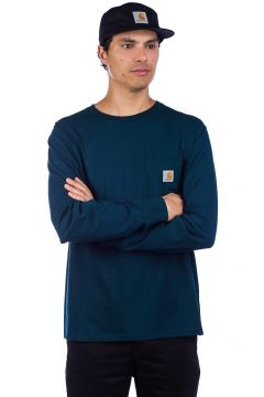 Carhartt WIP Pocket Long Sleeve T-Shirt blauw(91226479)