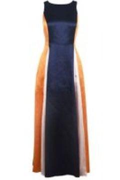 Hugo Kanisi Dress - Navy/Orange 464(111095109)