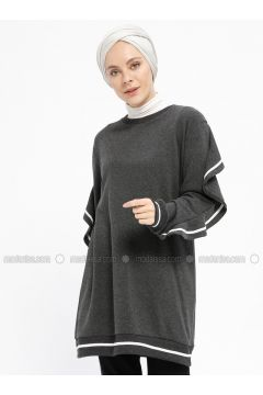 Crew neck - Smoke-coloured - Sweat-shirt - Meys(110329234)