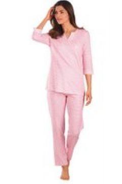 Bomullspyjamas med modernt mönster(112297130)