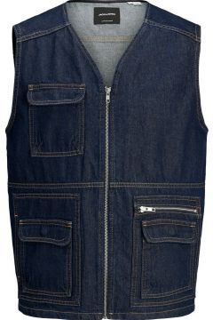 JACK & JONES Utilitaire Jean Gilet Sans Manches Men blue(114293097)