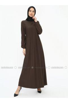 Khaki - Crew neck - Unlined - Dresses - EFE FERACE(110322457)
