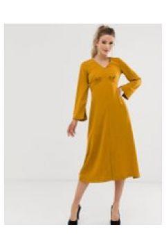 Closet - Kleid mit Empire-Taille und V-Ausschnitt - Gelb(93978679)