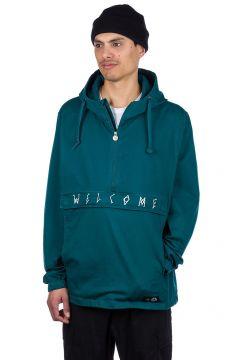 Welcome Scrawl Garment Dyed Anorak dark teal(100596593)