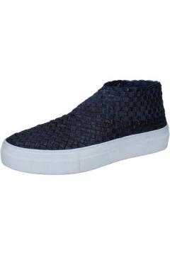 Chaussures E...vee E...slip on bleu cuir textile BY180(88522914)