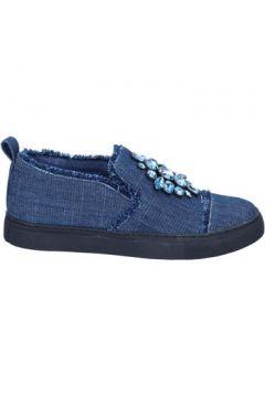 Chaussures Sara Lopez slip on bleu textile pierras BT996(115442991)