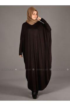 Anthracite - Unlined - Wool Blend - Acrylic - Abaya - Henna Elısa(110320050)