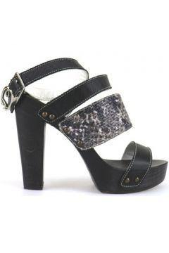 Sandales Braccialini sandales noir cuir textile AH386(88469260)