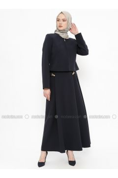 Navy Blue - Fully Lined - Suit - Tekbir(110335701)