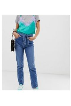 See You Never - Enge Jeans mit Bindegürtel - Blau(86701410)