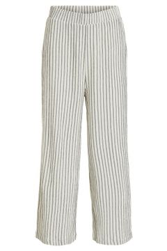 VILA Rayures, Raccourci Pantalon Women White(114596413)