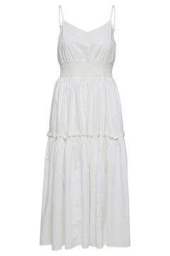 SELECTED Strap - Midi Jurk Dames White(114289935)
