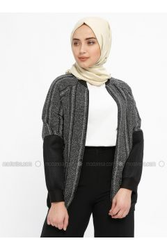 Gray - Multi - Unlined - Crew neck - Jacket - Mileny(110329328)