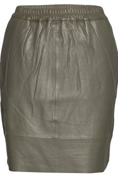 Leather Skirt W. Elastic In Waist Kurzes Kleid Grün COSTER COPENHAGEN(108573686)