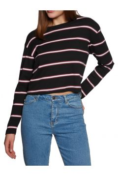 T-Shirt à Manche Longue SWELL Swell Cropped - Black Stripe(111319887)
