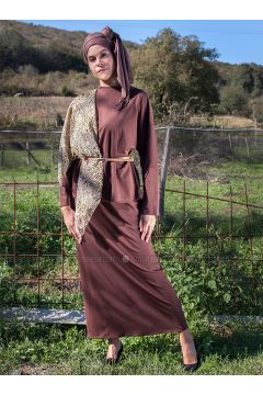 Brown - Unlined - Cotton - Suit - MisCats(110322726)