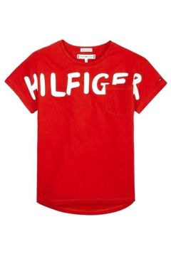 T-shirt enfant Tommy Hilfiger Kids BOLD TEXT GROWN ON S/S TEE(115517959)