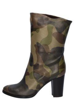 Bottines Alberto Gozzi bottes camouflage cuir AY167(98485826)