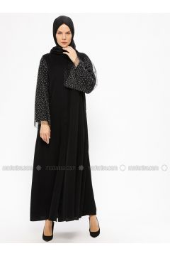 Black - Unlined - Crew neck - Abaya - AL SHEIKHA(110313610)