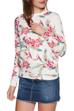 Sweat Femme Roxy Night Is Young - Snow White Tropic Call(111328336)
