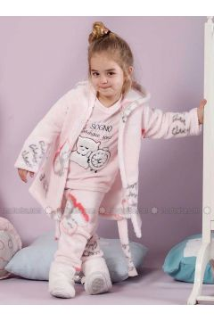 Powder - Crew neck - Multi - Cotton - Kids Pijamas - Siyah inci(110331135)