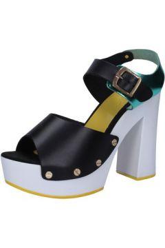 Sandales Suky Brand sandales noir cuir AB304(88470044)