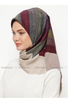 Multi - Printed - Wool Blend - Scarf - Karaca Eşarp(110330139)