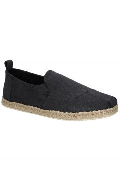 TOMS Deconstructed Alpargata Rope Slip-Ons black washed canvas(97843231)