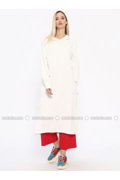 White - Ecru - Cotton - Tunic - Missemramiss(110330953)