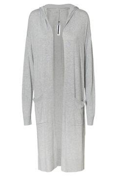 NOISY MAY Hooded Knitted Cardigan Kvinna Grå(110864774)