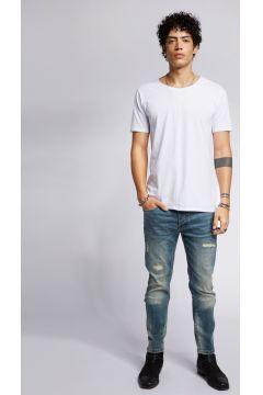 tigha Damen Slim Fit Jeans Morty 9054 stone wash blau (vintage mid blue)(113747472)