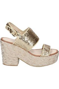 Espadrilles Sara Lopez sandales or glitter textile BS146(98485622)