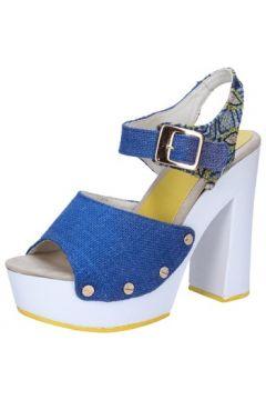 Sandales Suky Brand sandales bleu textile AB316(88470047)