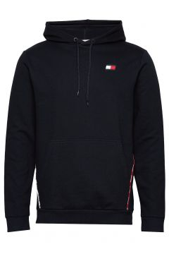 Piping Fleece Hoody Hoodie Pullover Schwarz TOMMY SPORT(114802040)