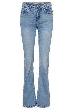 NOISY MAY Regular Waist Skinny Jeans Dames Blauw(111097461)