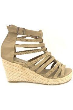 Espadrilles Nice Shoes Sandales compensées taupe(115647852)