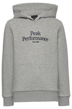 Jr Original Hood Hoodie Pullover Grau PEAK PERFORMANCE(114802004)