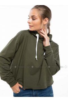 Khaki - Sweat-shirt - DeFacto(110325309)